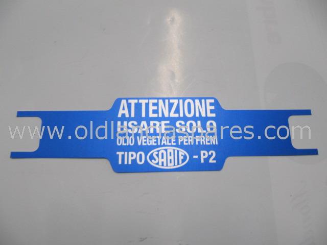82129922 - etichetta alimentatore freni