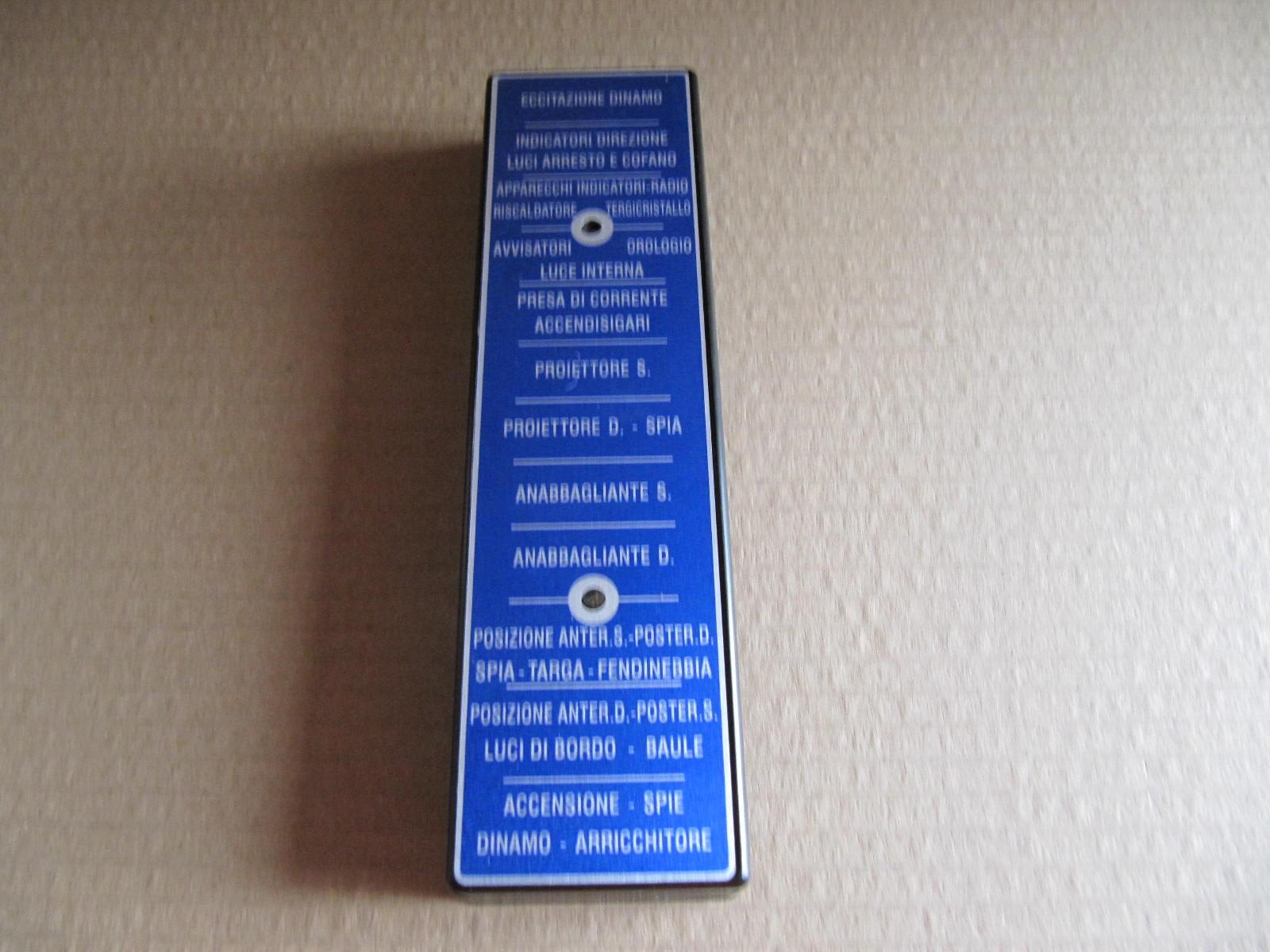 CAV1085 - COPERCHIO FUSIBILI CON ETICHETTA
