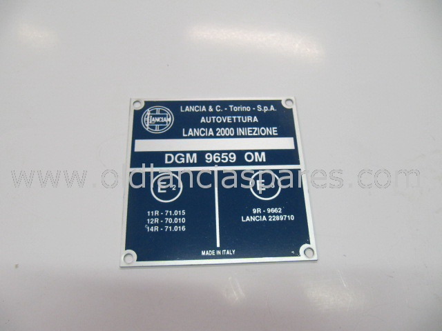 cav118 - etichetta telaio 2000 ie