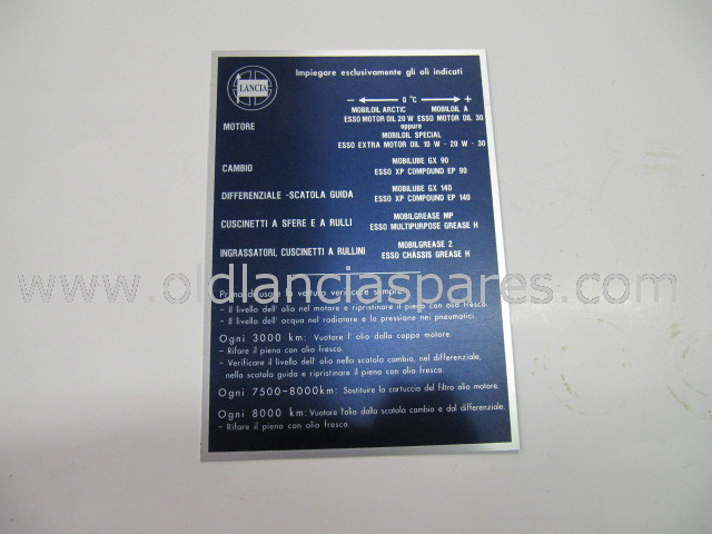 cav563 - etichetta lubrificanti mm 120 x 170