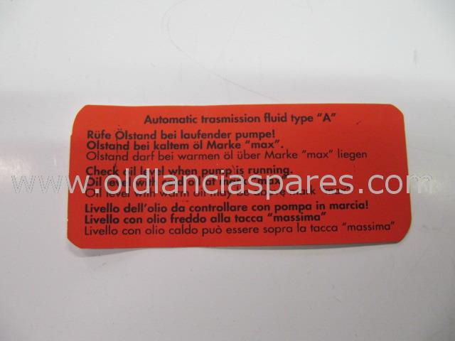 cav635 - sticker oil hydrosteering reservoir