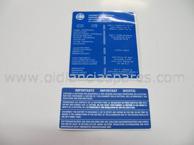 cav636 - coppia etichette su filtro aria
